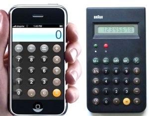 Apples Taschenrechner-App & Brauns Taschenrechner
