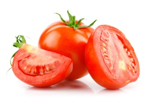 red tomato vegetable with cut