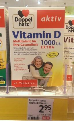 Vitamin D (recht gute Dosierung) für den Winter!
