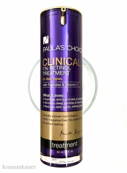 "Paula´s Choice ""Clinical  1% retinol Treatment""  30ml ca. 59,00 Euro"