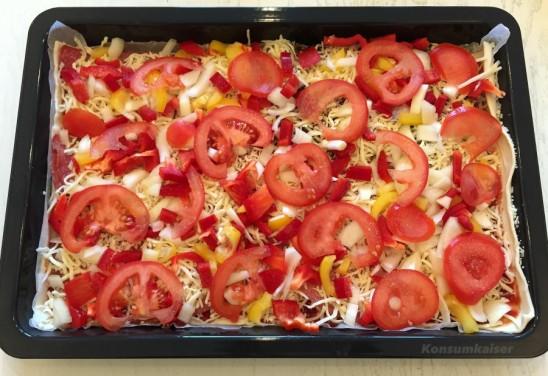Gemüsepizza zu Weihachten? Warum eigentlich nicht?